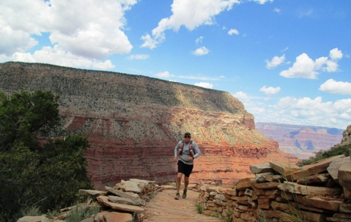 Running out of Canyon on the Hermit Trail