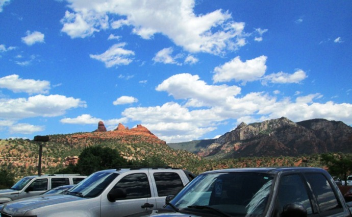 Looking at Cathedral Rock from the small parking lot!