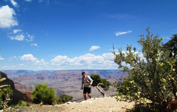 Running along a ridge section!