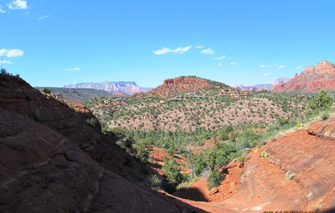 Looking out toward Sedona!