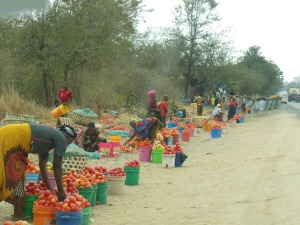 Market outside of Dar es Salaam!
