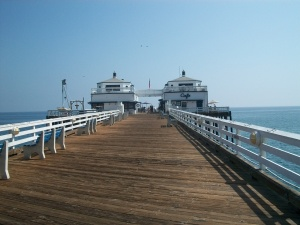 Walking out on the Pier at Malibu Beach